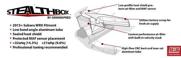 Grimmspeed StealthBox Cold Air Intake - Subaru 2015+ WRX Red